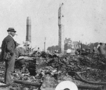 Surveying the fire damage